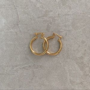 Small Tube Hoops | 18k Gold Filled